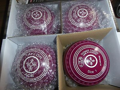 Thomas Taylor Ace Size 1 Heavy Plum Gripped Bowls
