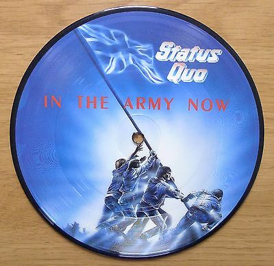 """Status Quo In The Army Now/Heartburn 7"""" Vinyl Picture Disc Record"""