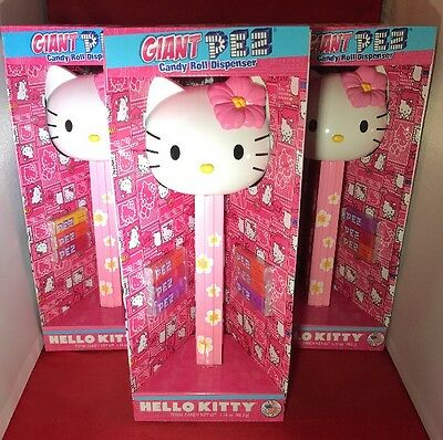LOT of (3) NEW Giant Hello Kitty Pez Dispenser FACTORY SEALED MINT 12 INCHES