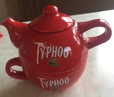 Typhoo One Cup Teapot and Cup, brand new