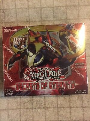 Yugioh Secrets of Eternity Sealed Booster Box 1st Edition English Edition