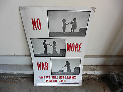 1960s US Anti War Movement Poster w Hippie Photo Says Have We Not Learned Repro?