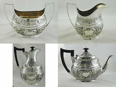 Victorian Sterling Silver Tea Set By Remy Martin & Edward Hall 1895