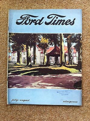 The Ford Times Owners Magazine Jul-Aug 1952 Popular Prefect Anglia Fordson
