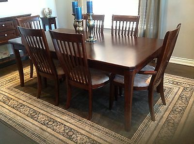Dining Room Set with Table, Chairs, China Cabinet and Buffet