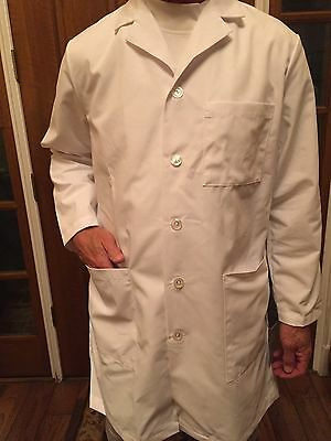 "Men's Meta White 3 Pocket Lab Coat Length 38"" for 14.00ea XS,S,ST,XL, 2XL, 2XLT,"