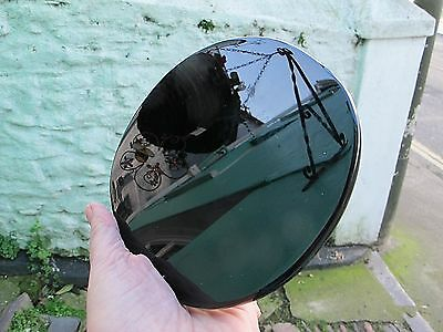 BLACK OBSIDIAN SCRYING MIRROR POLISHED CRYSTAL DIVINATION 14.5 X14CMS 314g