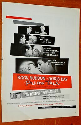 1959 Pillow Talk Movie Ad With Rock Hudson Doris Day - American 50S Film Retro