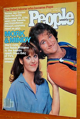 Mork & Mindy On 1979 People Maagazine Cover + 79 Plymouth Saporra Ad On Back