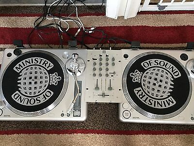 Ministry of Sound Twin Deck Turntable MOSTT1000