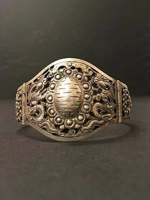 Antique Chinese Silver Bracelet Bangle 19th