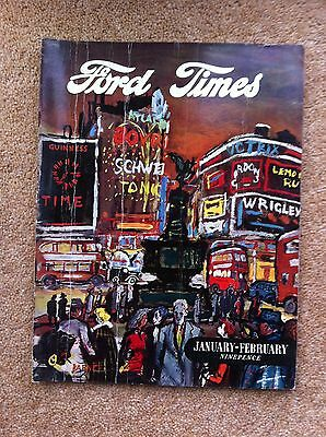 The Ford Times Owners Magazine Jan-Feb 1955 Popular Prefect Anglia Fordson