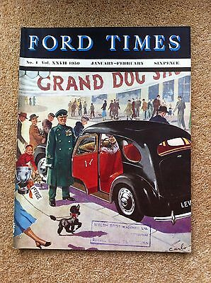 The Ford Times Owners Magazine Jan-Feb 1950 Popular Prefect Anglia Fordson