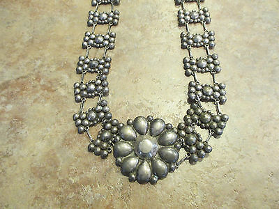 EARLY 1900's  Southwestern Sterling Silver Handmade Floral DOME Belt