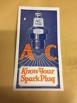 early brochure for ac spark plugs