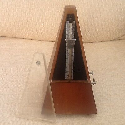 Antique German Vintage Style Mechanical Metronome in Wood Case