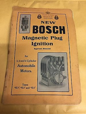 Early Catalogue For Bosch Coil Plugs And Magnetos