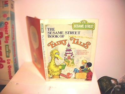 1973 Vintage THE SESAME STREET BOOK OF FAIRY TALES Hardcover Kids Book
