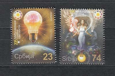 Serbia Serbien 2015  MNH** Lot 659-660 Year of Light and Soil