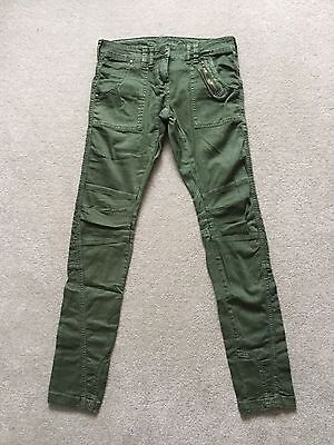Ladies Abandon Green Jeans Size 10 Trousers Brand New