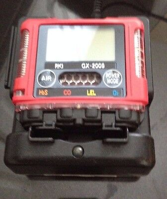 RKI GX-2009 4 GAS MONITOR LEL/O2/H2S/CO With case, charger, manual and new o2