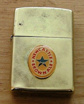 1994 Solid Brass Newcastle Brown Ale Zippo Lighter