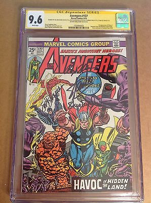 CGC SS 9.6 Avengers #127 signed Lee, Staton, Buscema, Englehart & Thomas not 9.8
