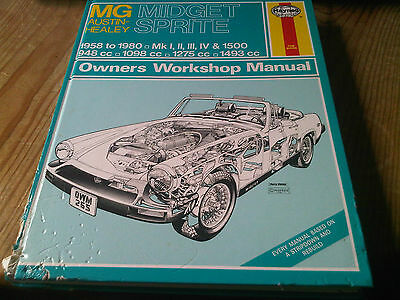 MG Midget Austin Healey Sprite 1958 to 1980 Haynes Owners Workshop Manual