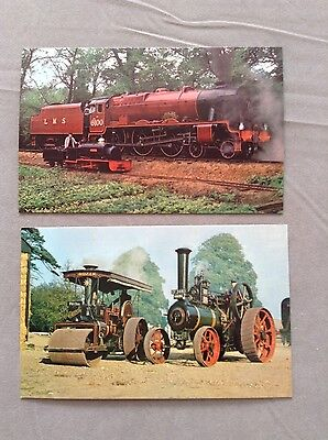 2 Postcards of Steam Engines