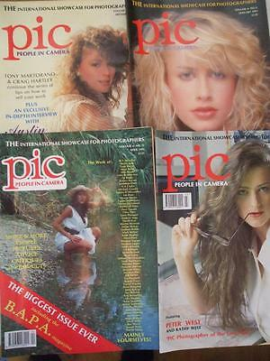 4 Issues Pic People In Camera Magazine 1992/3 Glamour Darkroom