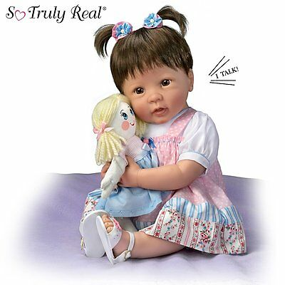 Ashton Drake - MOLLY AND RAGS Lifelike Baby Doll by Linda Murray - She talks!