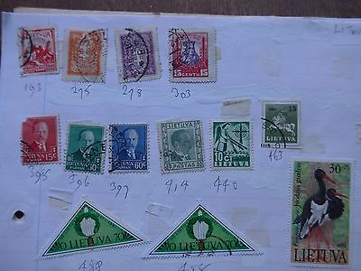 Lithuania - Various Stamps