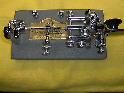 Vintage 1965 Vibroplex Original Standard Bug Ham Key in Very Nice Condition