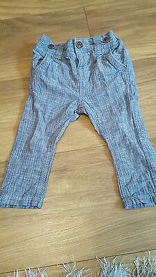 Next grey boys trousers 3-6 months
