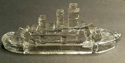 Antique Candy Container - Rare = Battleship - Vintage