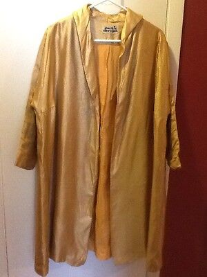 Vintage Gold Lame Jacket Women's Large By Jackie Morgan California