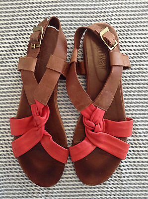 Brown and red sandals from Toast, EU size 40, UK size 7