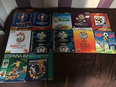 panini world cup football sticker albums collection