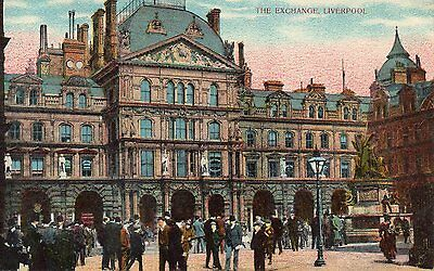 OLD GD &DL POSTCARD CIRCA 1900's - LIVERPOOL - THE EXCHANGE