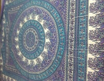 Indian Mandala/Tapestry/Wall Hanging/BedspreadBohemian Queen Hippie Throw Decor5