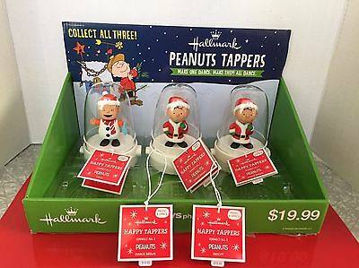 Hallmark Happy Tappers,Peanuts,(2) Charlie Brown,(1)Linus NWT,display&extra Tags