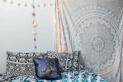 Indian Decor Mandala Tapestry Wall Hanging Hippie  Bohemian QUEEN Bedspread 23