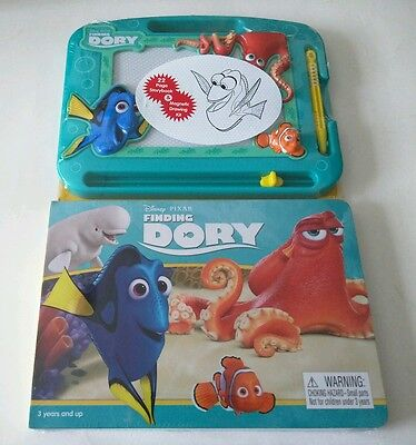 "DISNEY PIXAR Finding Dory 22 Page Storybook & Magnetic Drawing Kit  ""NEW"""