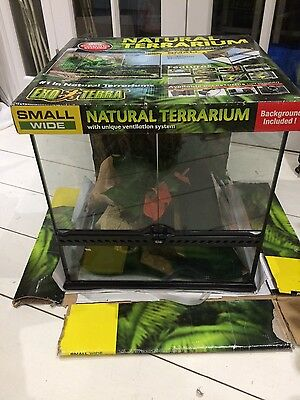 exo terra terrarium with accessories