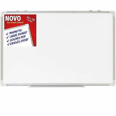 Dry Erase Board 24x36 | LARGE Magnetic Whiteboard with Aluminum Frame |