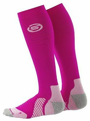 Skins Active Essentials Compression Socks Unisex Knee Pink White Extra Small XS