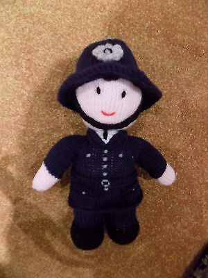 """New  Hand Knitted Policeman  11""""  Tall"""