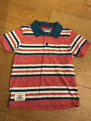 Boys Stripe Polo Shirt Age 3-4