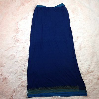 Free People Womens Size Small Long Flowy Navy Blue Boho Maxi Skirt