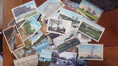 Vintage Lot of 30 Postcards - Random Early 1900s Through 1970s